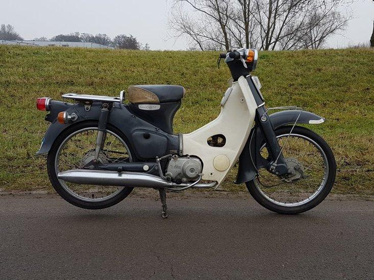 Gereserveerd!-Honda-C70-OT-Japans-(16)-grijs,-14292-km