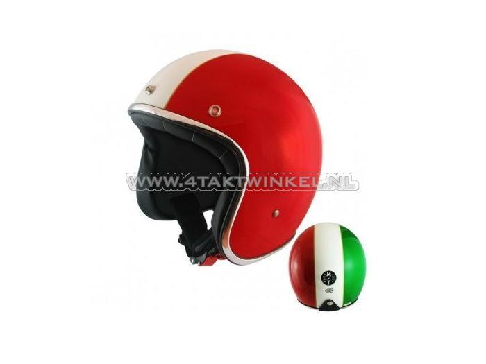 """Helm-MT,-Le-Mans-""""Flag""""-Italië,-Maten-S-t/m-XL"""