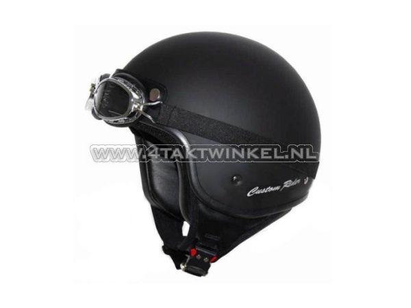 Helm-MT,-Custom-Rider,-mat-zwart,-Maten-S-t/m-XL