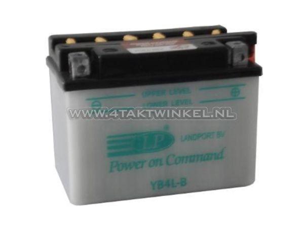Accu-12-volt-4-ampere-zuur,-YB4L-B,-Yuasa