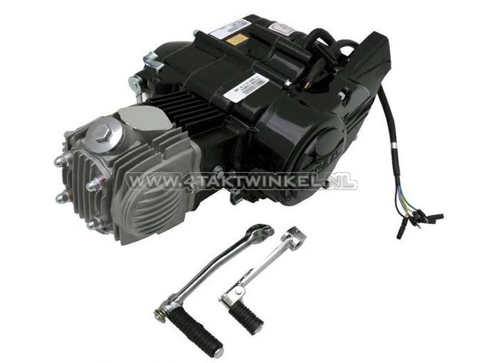 Motorblok,-Lifan,-50cc,-4-bak,-handkoppeling,-zwart
