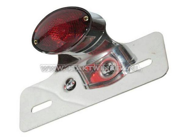 Achterlicht-cateye-enkel,-klein,-rood-glas