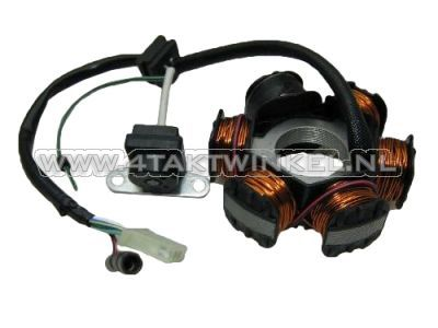 Spoelen-krans-&-pick-up-CDI-CB50,-origineel-Honda