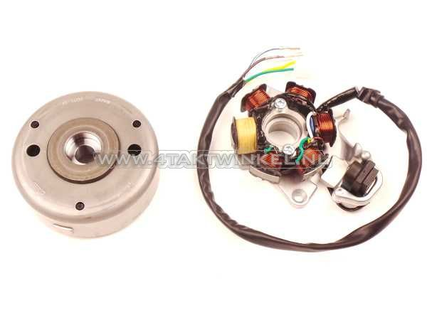 CDI-ontsteking-set-CB50,-imitatie-spoelen,-vliegwiel-origineel-Honda
