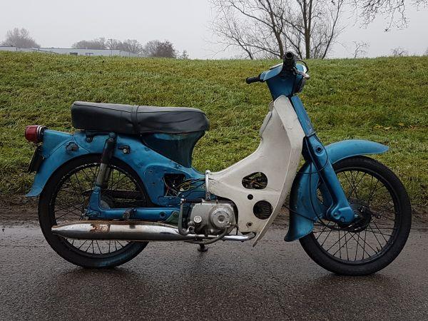 Honda-C50-OT,-Blauw,-9984km