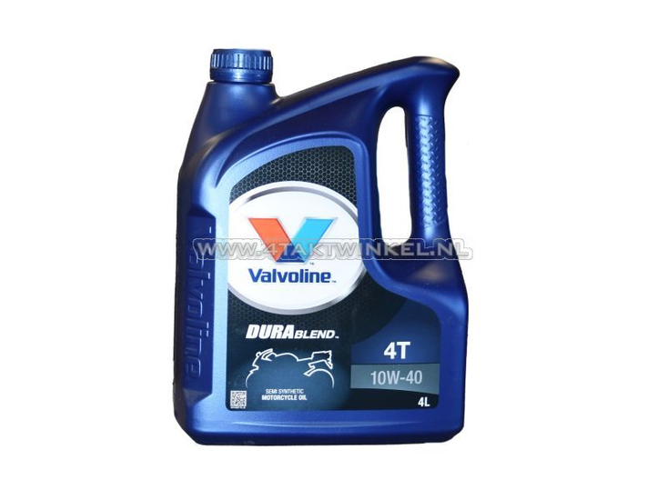 Olie-Valvoline-10w-40-semi-synthetisch,-4-takt,-4-liter