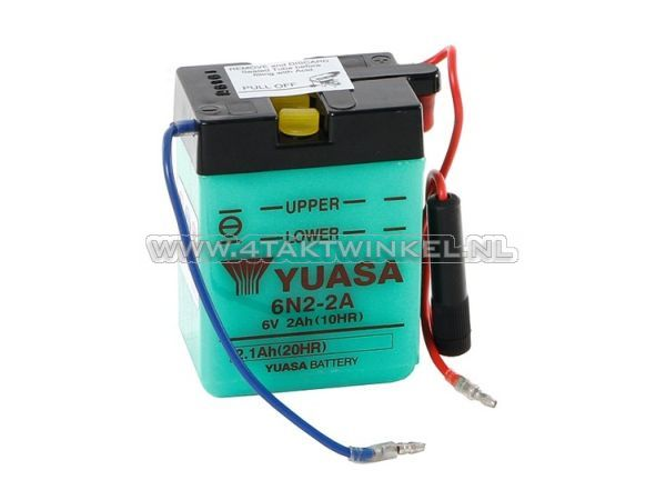 Accu-6-volt-2-ampere,-Dax,-SS50,-zuur-accu,-Yuasa