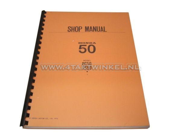 Werkplaatsboek,-Honda-PS50,-PC50-Engels