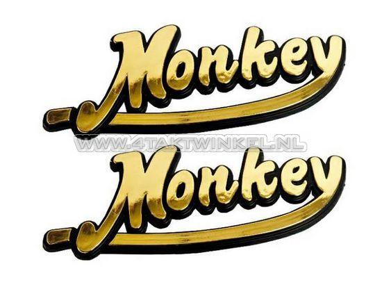 Embleem-Monkey,-set,-goud