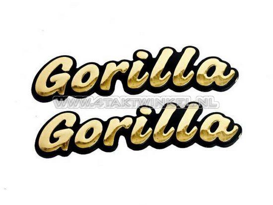 Embleem-Gorilla,-set,-goud