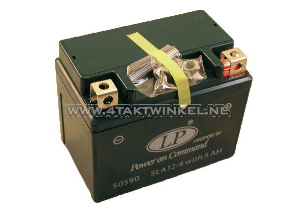 Accu-12-volt-5-ampere-Landport,-SLA12-4.-Maat-=-4-amp?re-CTX-4L-BS