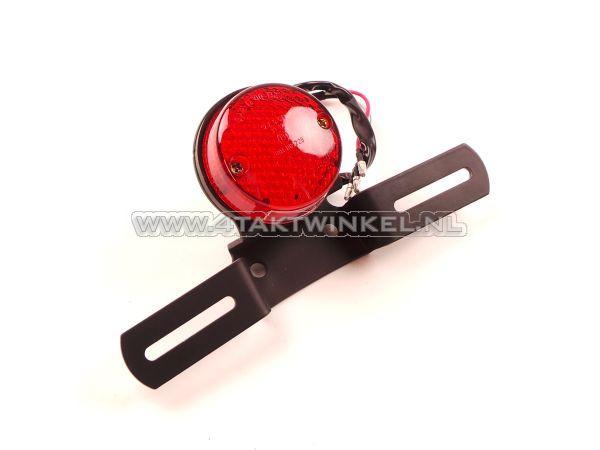 Achterlicht-enkel-60mm-rond,-LED,-rood-glas,-E-keur
