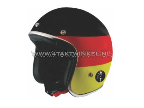 """Helm-MT,-Le-Mans-""""Flag""""-Duitsland,-Maten-S-t/m-XL"""