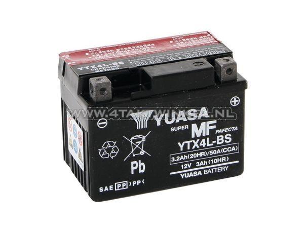 Accu-12-volt-3,2-ampere-zuur,-YTX-4L-BS,-Yuasa
