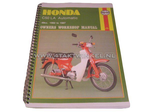 Werkplaatsboek,-Honda-C50-automaat,-kopie