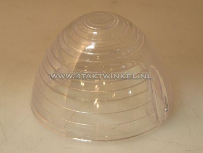 Knipperlichtglas,-C50,-puntje,-helder-glas