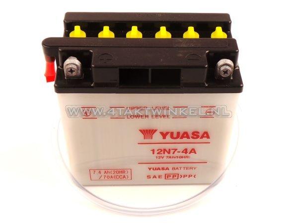 Accu-12-volt-7-ampere-zuur,-12N7-4A,-Mash-Fifty,-Yuasa