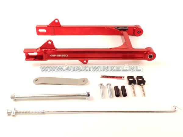 Achterbrug-C50,-SS50,-CD50-aluminium,-Kepspeed,-+6cm,-rood