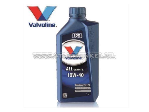 Olie-Valvoline-10w-40-All-Climate,-mineraal,-1-liter