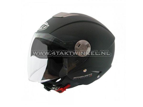 Helm-MT,-Jet,-City-Eleven,-mat-zwart,-Maten-XS-t/m-XL