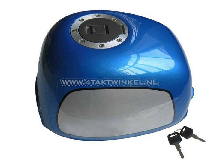 Tank,-Gorilla,-verzonken-tankdop,-blauw