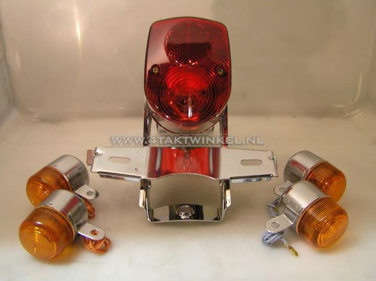 Achterlicht-en-knipperlicht-set,-Dax-old-style,-rood