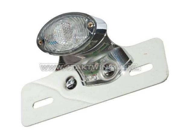 Achterlicht-cateye-enkel,-klein,-blank-LED