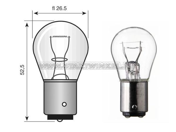 Lamp-enkel-12v-21-watt-groot-bolletje-BA15-S