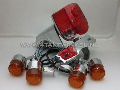 Achterlicht-en-knipperlicht-set,-Dax-old-style,-Skyteam,-rood