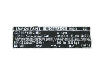 Sticker-C50-kettingkast-banden-informatie