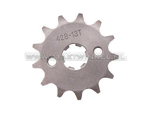 Voortandwiel,-428-ketting,-17mm-as,-13