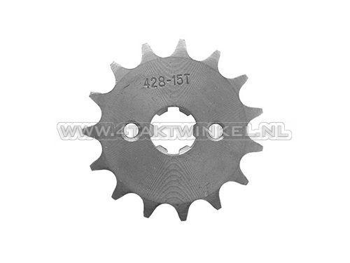 Voortandwiel,-428-ketting,-17mm-as,-15